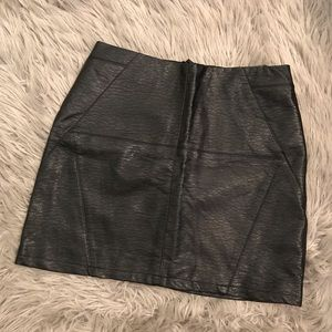 H&M High-waisted Faux Leather Skirt